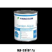 Finncolor Garden Aqua водорастворимая акриловая эмаль для внутренних работ по дереву и металлу, , 450 руб., Гарден аква эмаль, Finncolor Tikkurila, Эмаль для вагонки, окон и дверей