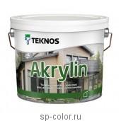 Teknos Akrylin Краска акриловая полуматовая для деревянных домов, , 620 руб., Акрилин, Teknos / Текнос, Краска фасадная