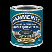 Краска Hammerite полуматовая гладкая по металлу с функцией 3 в 1, , 760 руб., Хаммерайт полуматовая, Hammerite Хаммерайт, Эмаль по ржавчине