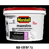 Marshall Maestro Глубокоматовая краска для бетонных фасадных поверхностей, , 240 руб., Maestro фасадная акриловая, Marshall , Для минеральных фасадов