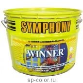 Symphony Winner глянцевая полиуретановая универсальная эмаль для наружных и внутренних работ, , 440 руб., Symphony winner глянцевая, Symphony / Симфония, Для минеральных фасадов