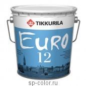 Tikkurila Euro 12 полуматовая латексная интерьерная краска для сухих и влажных помещений, , 400 руб., Евро 12, Tikkurila / Тиккурила, Каталог красок Тиккурила