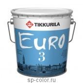 Tikkurila Euro 3 глубоко матовая моющаяся интерьерная латексная краска для стен и потолков в сухих помещениях, , 280 руб., Евро 3, Tikkurila / Тиккурила, Каталог красок Тиккурила