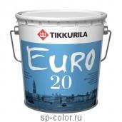 Tikkurila Euro 20 латексная интерьерная краска для сухих и влажных помещений повышенная стойкость к износу, , 420 руб., Евро 20, Tikkurila / Тиккурила, Каталог красок Тиккурила