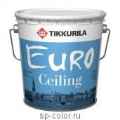 Tikkurila Euro Ceiling глубоко матовая высокоукрывистая акриловая краска для потолков, , 820 руб., Евро Силинг, Tikkurila / Тиккурила, Краски Tikkurila (Тиккурила)