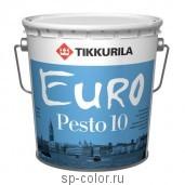 Tikkurila Euro Pesto 10 универсальная интерьерная матовая эмаль для внутренних работ, , 420 руб., Евро Песто 10, Tikkurila / Тиккурила, Эмаль для вагонки, окон и дверей
