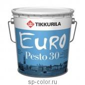 Tikkurila Euro Pesto 30 полуматовая интерьерная эмаль без резкого запаха для внутренних работ, , 420 руб., Евро Песто 30 , Tikkurila / Тиккурила, Эмаль для вагонки, окон и дверей