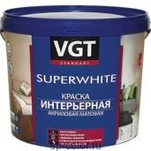 ВГТ Краска акриловая для стен ВД-АК-2180 супербелая (влагостойкая), , 900 руб., Краска ВГТ Супервайт, ВГТ, Каталог красок ВГТ