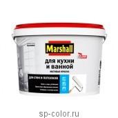 Marshall Матовая латексная краска повышенной влагостойкости для стен и потолков, , 250 руб., краска для ванной, Marshall , Краска для квартиры и кухни
