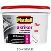 Marshall Akrikor профессиональная структурная латексная краска для фасадных поверхностей, , 2160 руб., Akrikor структурная, Marshall , Для минеральных фасадов