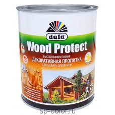 Dufa Wood Protect декоративная пропитка с воском для дерева