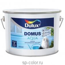 Dulux Domus Aqua фасадная полуматовая водная краска для деревянных поверхностей