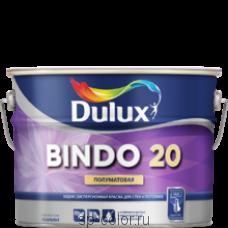 Dulux Bindo 20 полуматовая латексная краска для стен и потолков отличная укрывистость