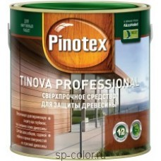 Pinotex Tinova Professional антисептик по дереву для наружных работ