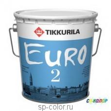 Tikkurila Euro 2 глубокоматовая интерьерная краска для сухих помещений