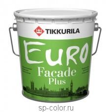 Tikkurila Euro Fasade Plus акриловая фасадная краска модифицированная силиконом