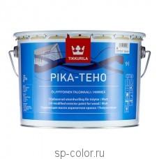 Tikkurila Pika Teho матовая акрилатная фасадная краска для дерева содержащая масло