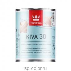 Tikkurila Kiva 30 полуматовый водорастворимый лак для мебели и дерева колеруемый