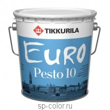 Tikkurila Euro Pesto 10 универсальная интерьерная матовая эмаль для внутренних работ