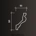 Европласт карниз с гладким профилем 1.50.100