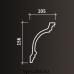 Европласт карниз с гладким профилем 1.50.117
