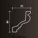 Европласт карниз с гладким профилем 1.50.129