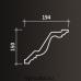 Европласт карниз с гладким профилем 1.50.134