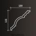 Европласт карниз с гладким профилем 1.50.148