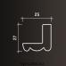 Европласт карниз с гладким профилем 1.50.258