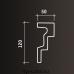 Европласт карниз с гладким профилем 1.50.262
